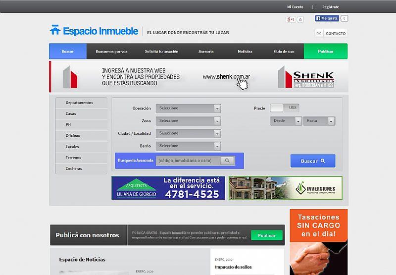Espacio inmueble dise o web p ginas web dise o de for Paginas de inmuebles